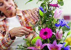 Virtual Flower Arranging with Garden Flowers